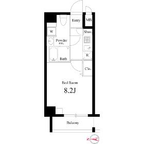 1K Mansion in Machiya - Arakawa-ku Floorplan