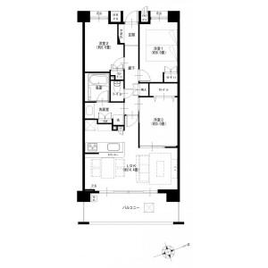 3LDK {building type} in Nakakaigan - Chigasaki-shi Floorplan