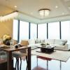 在港区购买3LDK 公寓大厦的 起居室