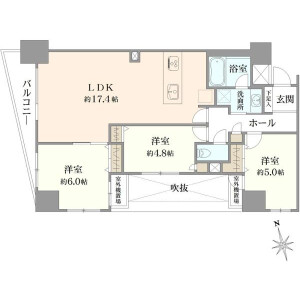 3LDK {building type} in Asakusa - Taito-ku Floorplan