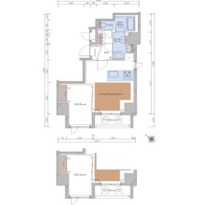 1LDK {building type} in Sekiguchi - Bunkyo-ku Floorplan