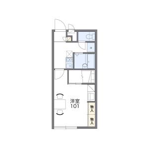1K Apartment in Oyumicho - Chiba-shi Chuo-ku Floorplan