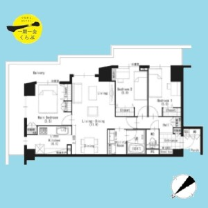 3LDK {building type} in Tsukishima - Chuo-ku Floorplan