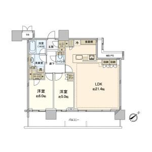 2LDK {building type} in Koyama - Shinagawa-ku Floorplan