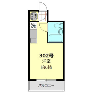 1R Apartment in Shinjuku - Shinjuku-ku Floorplan