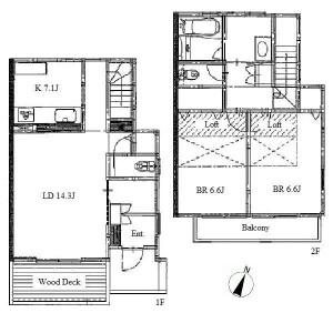 2LDK House in Hongo - Nagoya-shi Meito-ku Floorplan