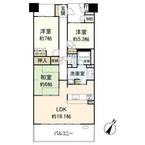 3LDK {building type} in Senriyama hoshigaoka - Suita-shi Floorplan