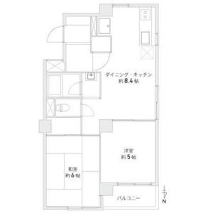 2DK {building type} in Shirokane - Minato-ku Floorplan