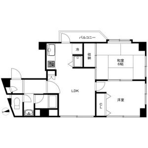 2LDK Mansion in Taishido - Setagaya-ku Floorplan