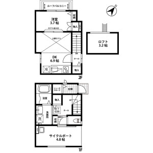 1DK House in Kamisawa - Fujimi-shi Floorplan