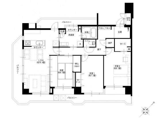 3LDK Apartment to Buy in Fujisawa-shi Floorplan