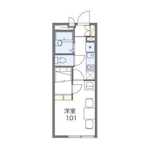 1K Apartment in Higashinarashino - Narashino-shi Floorplan