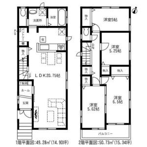 4LDK House in Mukaida - Sendai-shi Aoba-ku Floorplan