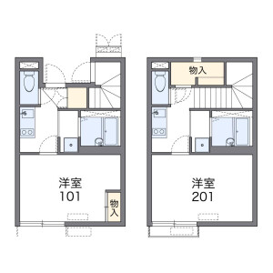 1K Apartment in Kamikoga - Chikushino-shi Floorplan