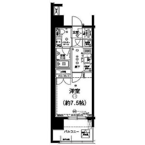 1K Mansion in Ueno - Taito-ku Floorplan