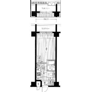 横濱市港北區大豆戸町-1K公寓大廈 房間格局
