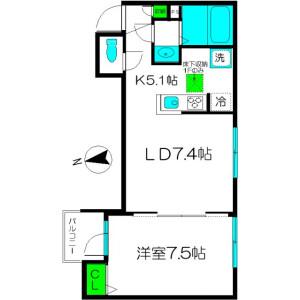 1LDK Apartment in Takadanobaba - Shinjuku-ku Floorplan