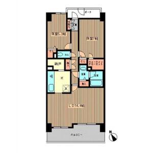 港区三田-2LDK公寓大厦 楼层布局