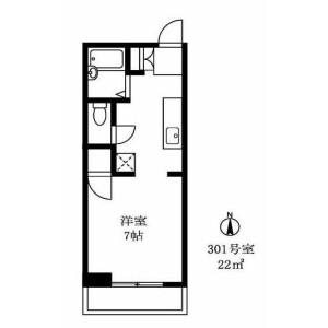 1R Apartment in Ebisuminami - Shibuya-ku Floorplan