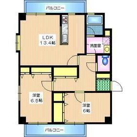 2LDK Apartment in Higashiyama - Meguro-ku Floorplan