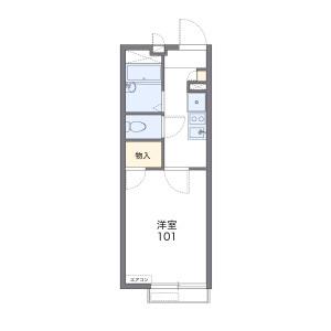 横浜市青葉区恩田町-1K公寓 楼层布局