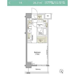 1K Mansion in Ishikawacho - Yokohama-shi Naka-ku Floorplan