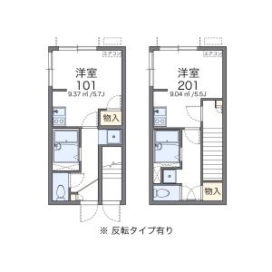 新宿区中落合-1K公寓 楼层布局