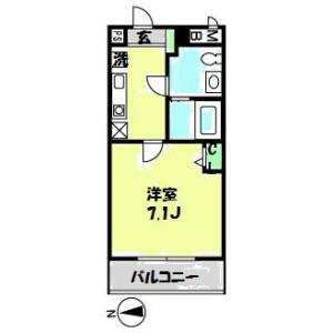 1K Mansion in Kameino - Fujisawa-shi Floorplan