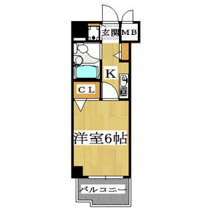 1K Mansion in Imaike - Nagoya-shi Chikusa-ku Floorplan