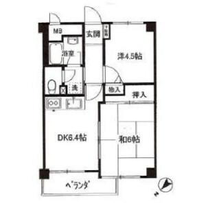 2DK Mansion in Osaki - Shinagawa-ku Floorplan