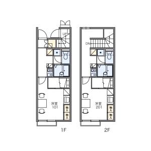 1K Apartment in Yahagicho - Nagoya-shi Moriyama-ku Floorplan