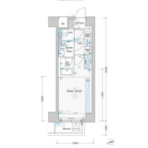 1K Mansion in Senju kawaracho - Adachi-ku Floorplan