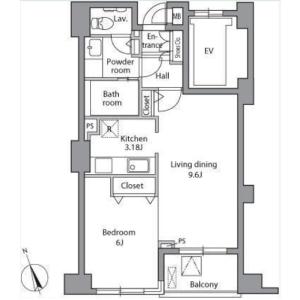2LDK Mansion in Nakane - Meguro-ku Floorplan
