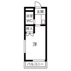 1K Apartment in Sonenji - Hirakata-shi Floorplan
