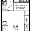 1K Apartment to Rent in Narita-shi Floorplan