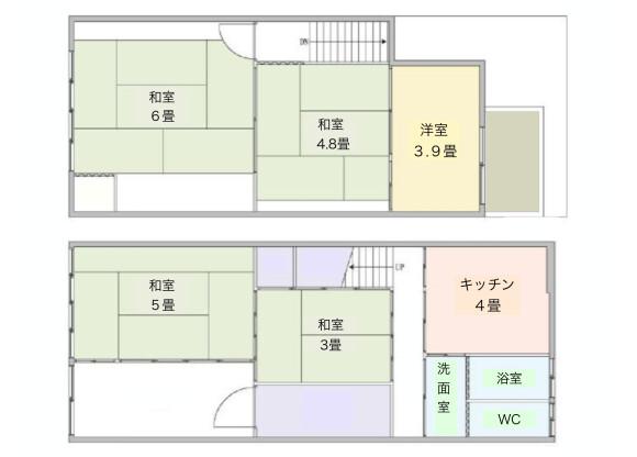 5K House to Buy in Kyoto-shi Shimogyo-ku Floorplan