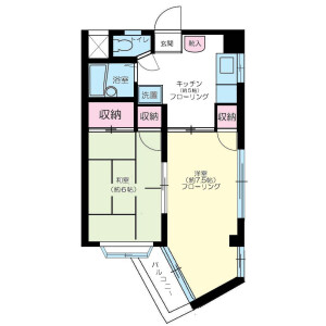 2K Mansion in Kurihara - Adachi-ku Floorplan