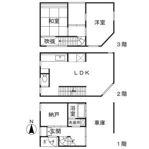 2SLDK House in Shinjo - Kawasaki-shi Nakahara-ku Floorplan