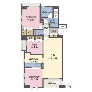 2SLDK {building type} in Higashinihombashi - Chuo-ku Floorplan