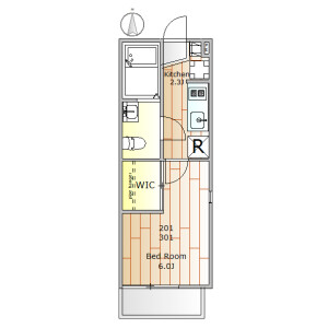 目黒區原町-1K公寓 房間格局