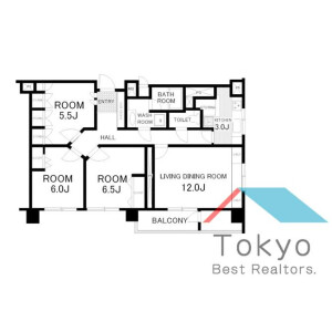 3LDK Mansion in Matsugaoka - Nakano-ku Floorplan