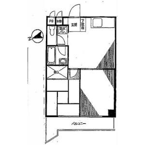 港區東麻布-2DK公寓大廈 房間格局