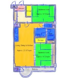 2LDK Apartment in Otowa nodacho - Kyoto-shi Yamashina-ku Floorplan