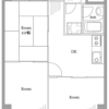 在新宿区购买3DK 公寓大厦的 楼层布局