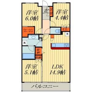 埼玉市浦和區北浦和-2SLDK公寓大廈 房間格局