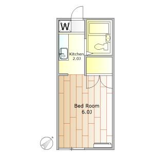 1K Apartment in Nozawa - Setagaya-ku Floorplan