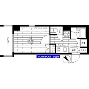 1K Mansion in Minamitokiwadai - Itabashi-ku Floorplan