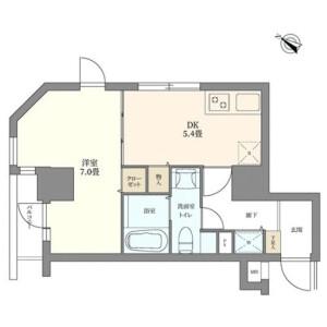 1DK Apartment in Roppongi - Minato-ku Floorplan
