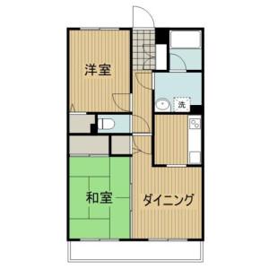 2LDK Mansion in Tsunashimahigashi - Yokohama-shi Kohoku-ku Floorplan
