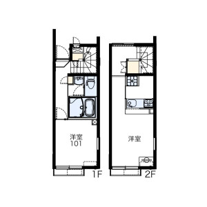 1LDK Apartment in Shimoshakujii - Nerima-ku Floorplan